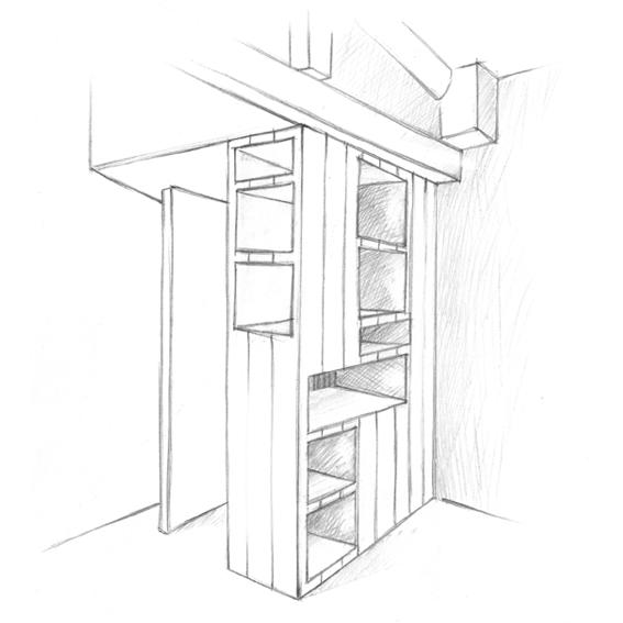 Colonne – Bibliothèque