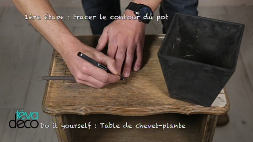 DIY – Table de chevet-plante